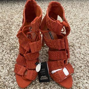 ZARA Braided Strappy High Heel Sandals